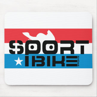 Sportbike Rider Mouse Pad