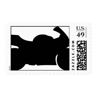 Sportbike Silhouette Stamps