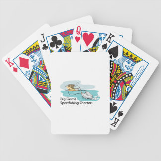 SPORTFISHING CHARTERS BICYCLE PLAYING CARDS