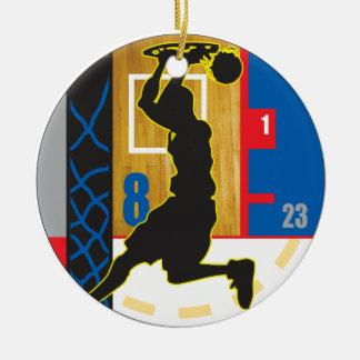 Sportidu Design - Basketball2 Ceramic Ornament