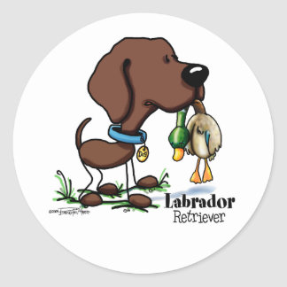 Sporting - Chocolate Labrador Retriever stickers