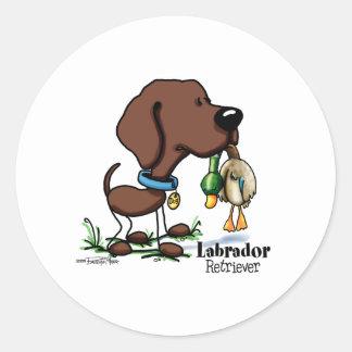 Sporting - Chocolate Labrador Retriever stickers