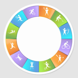 Sporting Event Wheel Classic Round Sticker
