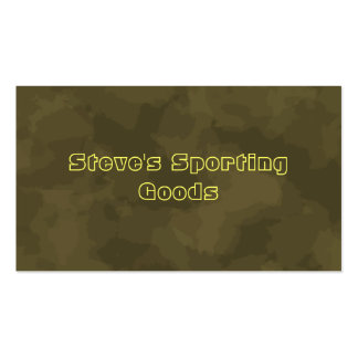 Sporting Goods Double-Sided Standard Business Cards (Pack Of 100)