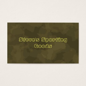Professional Business Sporting Goods Business Card