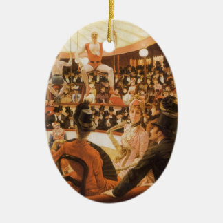 Sporting Ladies (aka Circus Lover) by James Tissot Ceramic Ornament