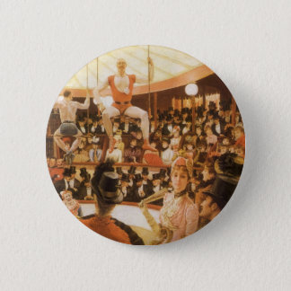 Sporting Ladies (aka Circus Lover) by James Tissot Pinback Button