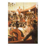 """Sporting Ladies (or Circus Lover) by James Tissot 5"""" X 7"""" Invitation Card"""