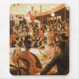Sporting Ladies (or Circus Lover) by James Tissot Mouse Pad