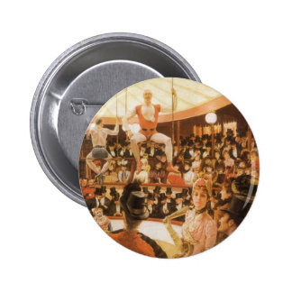Sporting Ladies (or Circus Lover) by James Tissot Pinback Button