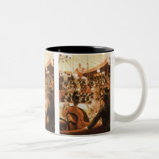 Sporting Ladies (or Circus Lover) by James Tissot Two-Tone Coffee Mug