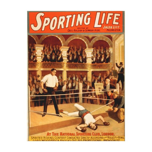 """Sporting Life"" Boxing Theatrical Play Poster Canvas Print"