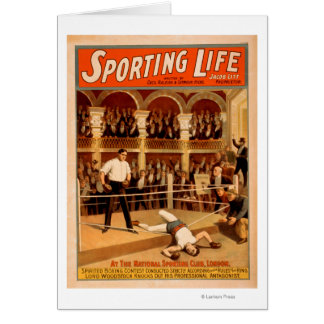 """""""Sporting Life"""" Boxing Theatrical Play Poster Card"""
