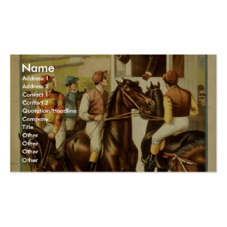 Sporting Life, 'The Great English Derby' Retro The Business Card Templates