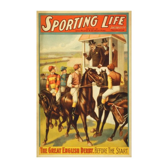 Sporting Life - The Great English Derby Theatre Canvas Print