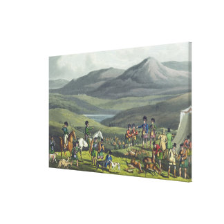 Sporting Meeting in the Highlands, aquatinted by I Canvas Print