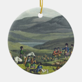Sporting Meeting in the Highlands, aquatinted by I Ceramic Ornament