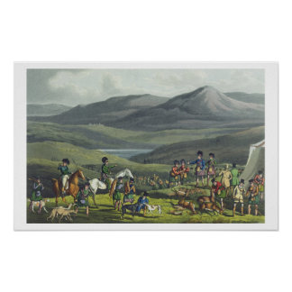 Sporting Meeting in the Highlands, aquatinted by I Poster
