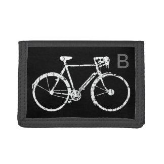 sporting white bike trifold wallets