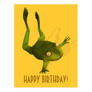 Sportive Frog Postcard