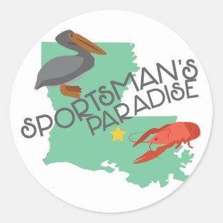 Sportmans Paradise Classic Round Sticker