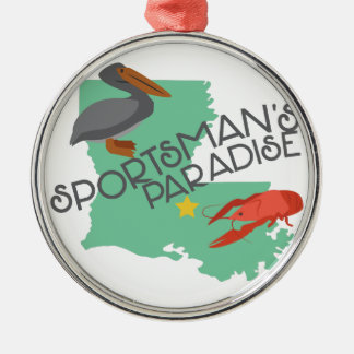 Sportmans Paradise Metal Ornament
