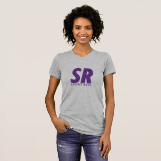 SPORTREEL WOMEN FITTED T-SHIRT WITH PURPLE LOGO