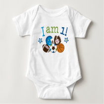 Sports 1st Birthday Baby Bodysuit
