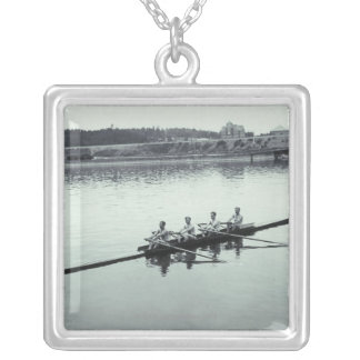 Sports 2 silver plated necklace