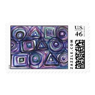 Sports Abstract stamp postage Bat Bar Mitvah stamp
