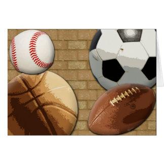 Sports Al-Star, Basketball/Soccer/Football Card