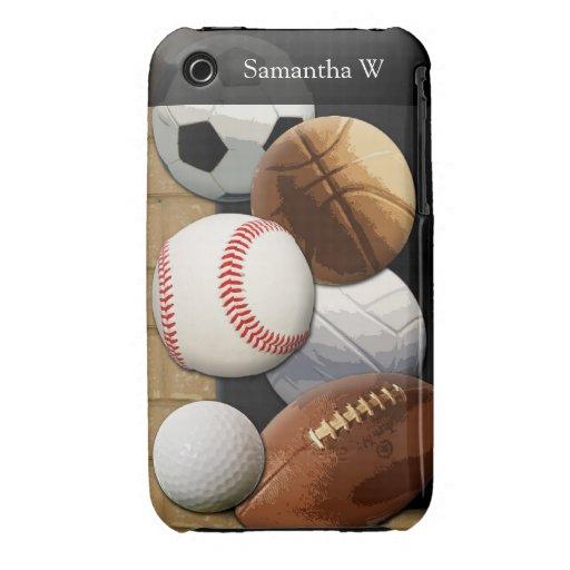 Sports Al-Star, Basketball/Soccer/Football iPhone 3 Covers