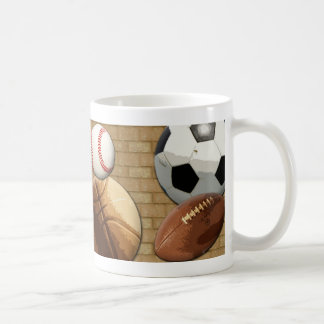 Sports Al-Star, Basketball/Soccer/Football Coffee Mug