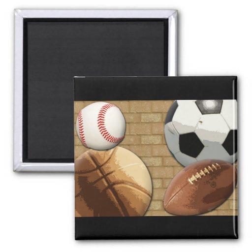 Sports Al-Star, Basketball/Soccer/Football Magnets