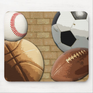 Sports Al-Star, Basketball/Soccer/Football Mouse Pad