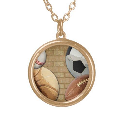 Sports Al-Star, Basketball/Soccer/Football Custom Necklace