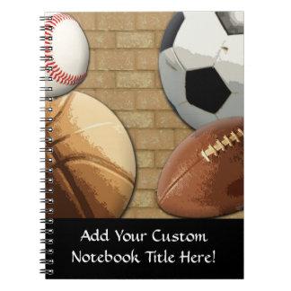 Sports Al-Star, Basketball/Soccer/Football Spiral Notebook