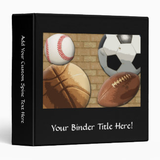 Sports Al-Star, Basketball/Soccer/Football Vinyl Binder