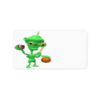 Sports Alien Label