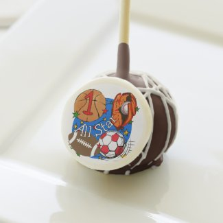 Sports All Star 1st Birthday Cake Pops