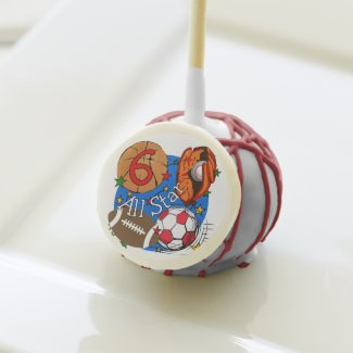 Sports All Star 6th Birthday Cake Pops
