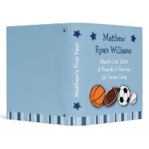 Sports All Star Baby Photo Album Scrapbook 3 Ring Binder