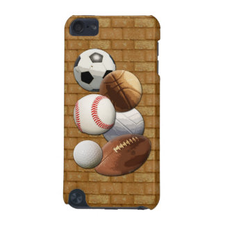 Sports All-Star Balls with Brick Wall iPod Touch 5G Case