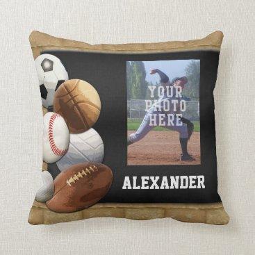 Sports All-Star Custom Photo/Name Pillow