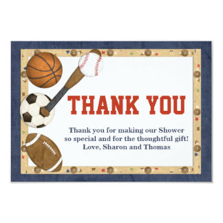 Sports All Star Thank You Card