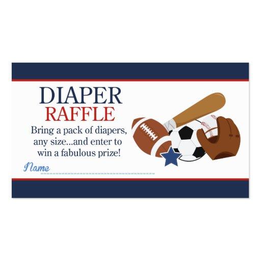 Sports All Stars Boy Baby Shower Diaper Raffle Business ...