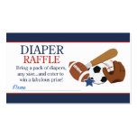 Sports All Stars Boy Baby Shower Diaper Raffle Double-Sided Standard Business Cards (Pack Of 100)
