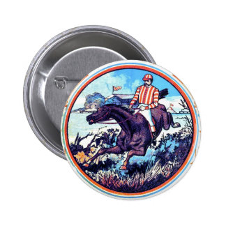 Sports and Games Fox Hunt Vintage Book Cover Pin