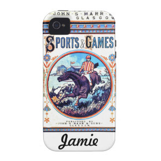 Sports and Games Hunting Vintage Book Cover iPhone 4/4S Case