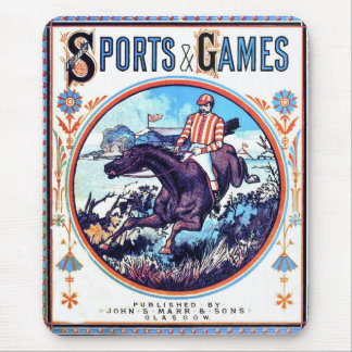 Sports and Games Hunting Vintage Book Cover Mouse Pad